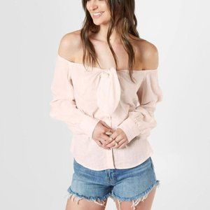 Free People Pink Hello There Beautiful Striped Top